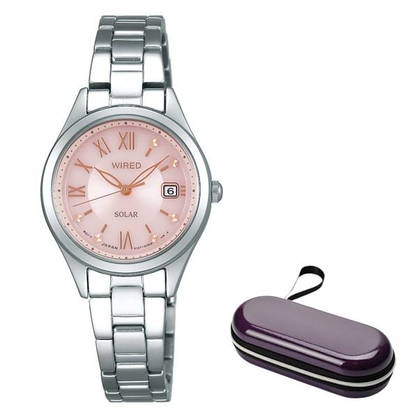 (10月新商品)(時計ケースセット)(国内正規品)(セイコー)SEIKO 腕時計 AGED105 (ワイアードエフ)WIREDf ペアスタイル レディース(ステンレスバンド ソーラー アナログ)(快適家電デジタルライフ)