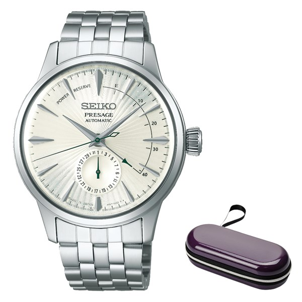 (時計ケースセット)(国内正規品)(セイコー)SEIKO 腕時計 SARY129 (プレザージュ)PRESAGE メンズ ベーシックライン(ステンレスバンド 自動巻き(手巻付) 多針アナログ)(快適家電デジタルライフ)