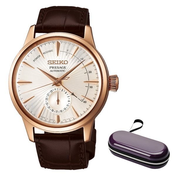 (時計ケースセット)(国内正規品)(セイコー)SEIKO 腕時計 SARY132 (プレザージュ)PRESAGE メンズ ベーシックライン(牛革バンド 自動巻き(手巻付) 多針アナログ)(快適家電デジタルライフ)