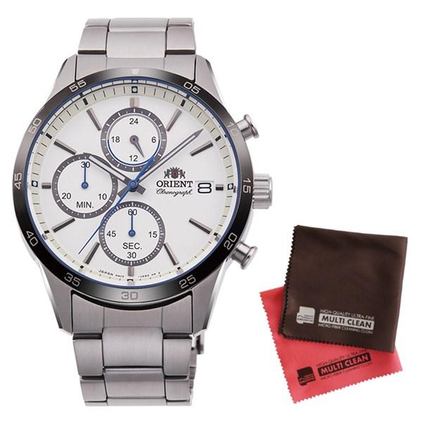 (クロスセット)(国内正規品)(オリエント)ORIENT 腕時計 RN-KU0001S (コンテンポラリー)CONTEMPORARY メンズ クロノグラフ(ステンレスバンド クオーツ 多針アナログ)(快適家電デジタルライフ)