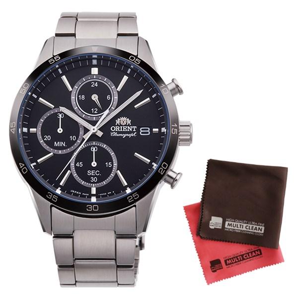 (クロスセット)(国内正規品)(オリエント)ORIENT 腕時計 RN-KU0002B (コンテンポラリー)CONTEMPORARY メンズ クロノグラフ(ステンレスバンド クオーツ 多針アナログ)(快適家電デジタルライフ)