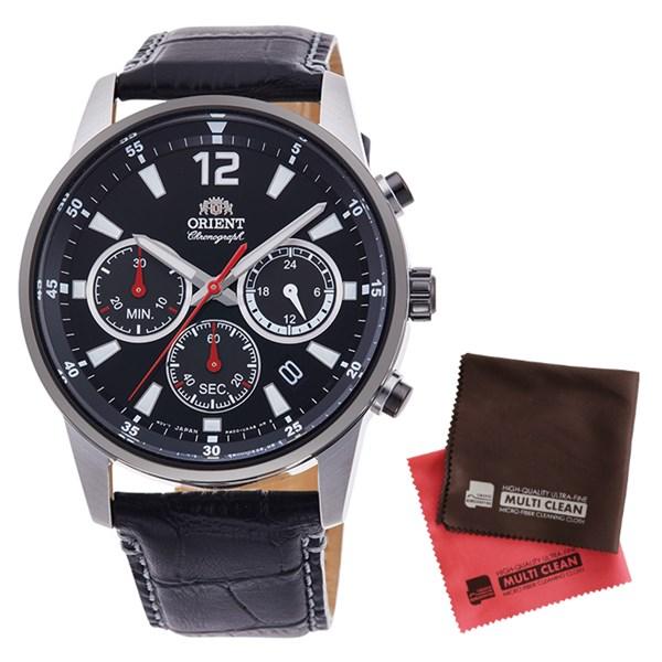 (クロスセット)(国内正規品)(オリエント)ORIENT 腕時計 RN-KV0004B (スポーツ)SPORTS メンズ クロノグラフ(牛革バンド クオーツ 多針アナログ)(快適家電デジタルライフ)