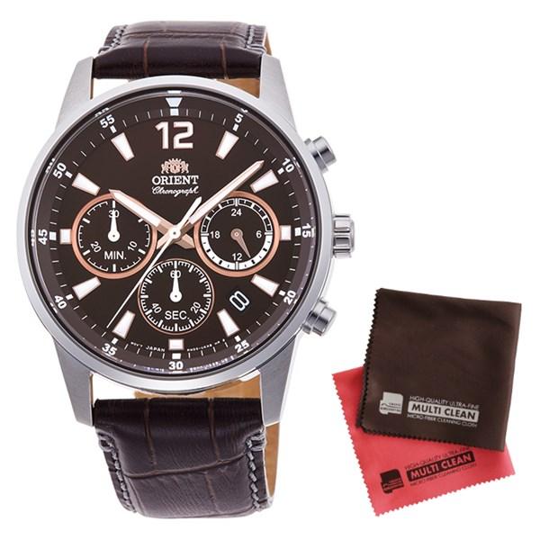 (クロスセット)(国内正規品)(オリエント)ORIENT 腕時計 RN-KV0005Y (スポーツ)SPORTS メンズ クロノグラフ(牛革バンド クオーツ 多針アナログ)(快適家電デジタルライフ)
