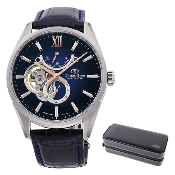 (ケースセット)(国内正規品)(オリエントスター)ORIENTSTAR 腕時計 RK-HJ0005L コンテンポラリー メンズ スリムスケルトン(ワニ革バンド 自動巻き(手巻付) 多針アナログ)(快適家電デジタルライフ)
