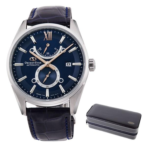 (ケースセット)(国内正規品)(オリエントスター)ORIENTSTAR 腕時計 RK-HK0004L コンテンポラリー メンズ スリムデイト 限定モデル(ワニ革バンド 自動巻き(手巻付) 多針アナログ)(快適家電デジタルライフ)