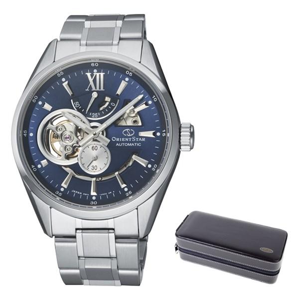 (ケースセット)(国内正規品)(オリエントスター)ORIENTSTAR 腕時計 RK-AV0004L コンテンポラリー メンズ モダンスケルトン(ステンレスバンド 自動巻き(手巻付) 多針アナログ)(快適家電デジタルライフ)