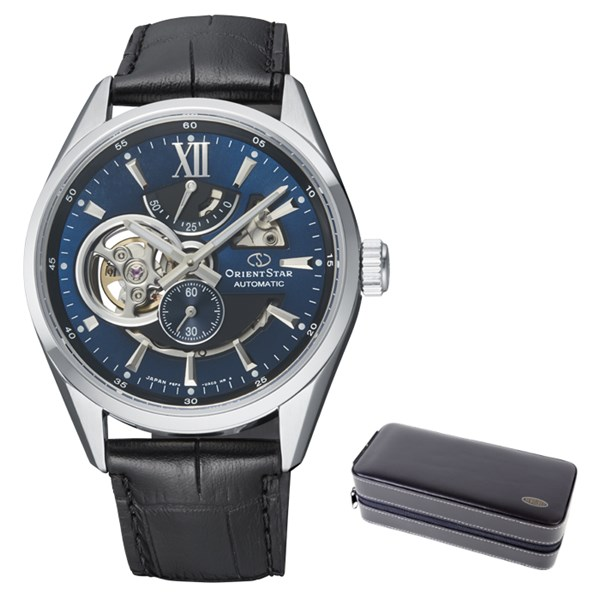(ケースセット)(国内正規品)(オリエントスター)ORIENTSTAR 腕時計 RK-AV0006L コンテンポラリー メンズ モダンスケルトン(牛革バンド 自動巻き(手巻付) 多針アナログ)(快適家電デジタルライフ)