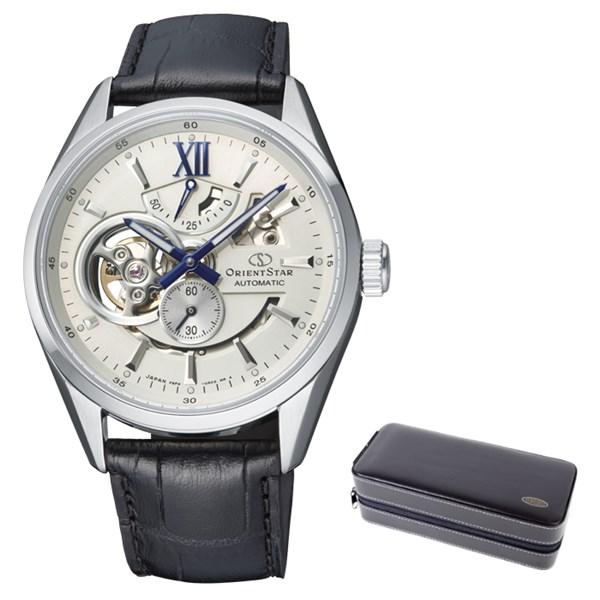 (ケースセット)(国内正規品)(オリエントスター)ORIENTSTAR 腕時計 RK-AV0007S コンテンポラリー メンズ モダンスケルトン(牛革バンド 自動巻き(手巻付) 多針アナログ)(快適家電デジタルライフ)
