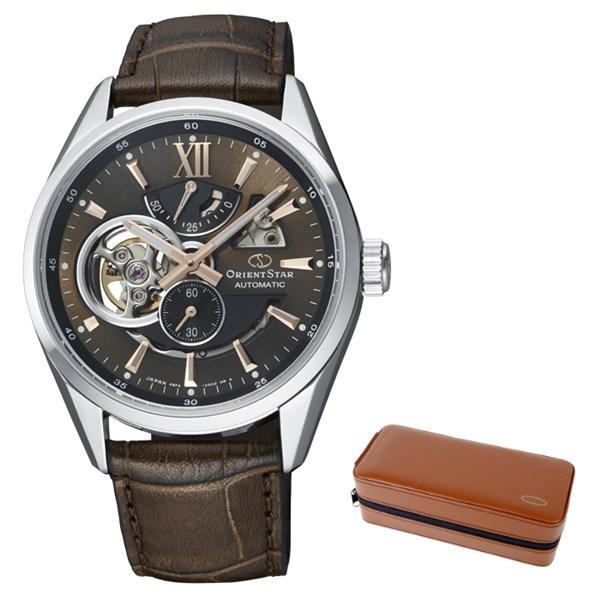 (ケースセット)(国内正規品)(オリエントスター)ORIENTSTAR 腕時計 RK-AV0008Y コンテンポラリー メンズ モダンスケルトン(牛革バンド 自動巻き(手巻付) 多針アナログ)(快適家電デジタルライフ)