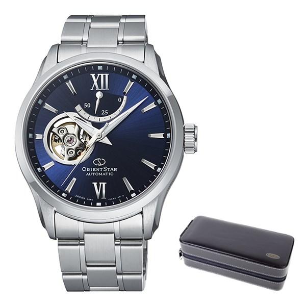 (ケースセット)(国内正規品)(オリエントスター)ORIENTSTAR 腕時計 RK-AT0002L コンテンポラリー メンズ セミスケルトン(ステンレスバンド 自動巻き(手巻付) 多針アナログ)(快適家電デジタルライフ)