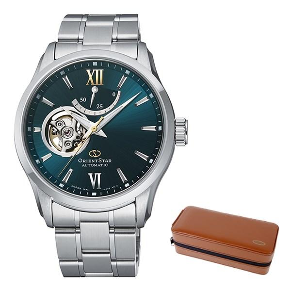 (ケースセット)(国内正規品)(オリエントスター)ORIENTSTAR 腕時計 RK-AT0003E コンテンポラリー メンズ セミスケルトン(ステンレスバンド 自動巻き(手巻付) 多針アナログ)(快適家電デジタルライフ)