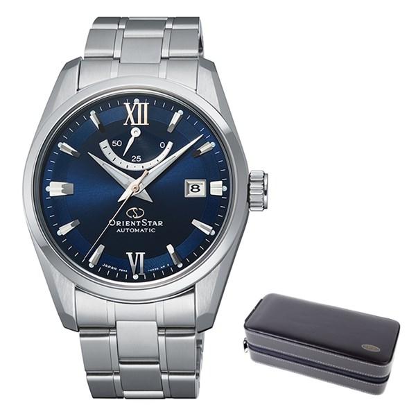 (ケースセット)(国内正規品)(オリエントスター)ORIENTSTAR 腕時計 RK-AU0005L コンテンポラリー メンズ スタンダード(ステンレスバンド 自動巻き(手巻付) 多針アナログ)(快適家電デジタルライフ)