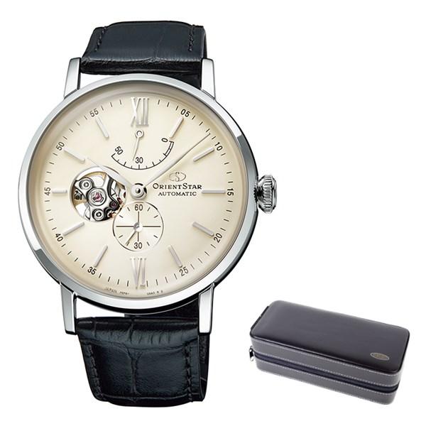 (ケースセット)(国内正規品)(オリエントスター)ORIENTSTAR 腕時計 RK-AV0002S クラシック メンズ クラシックセミスケルトン(牛革バンド 自動巻き(手巻付) 多針アナログ)(快適家電デジタルライフ)