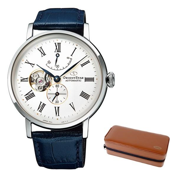 (ケースセット)(国内正規品)(オリエントスター)ORIENTSTAR 腕時計 RK-AV0003S クラシック メンズ クラシックセミスケルトン(牛革バンド 自動巻き(手巻付) 多針アナログ)(快適家電デジタルライフ)