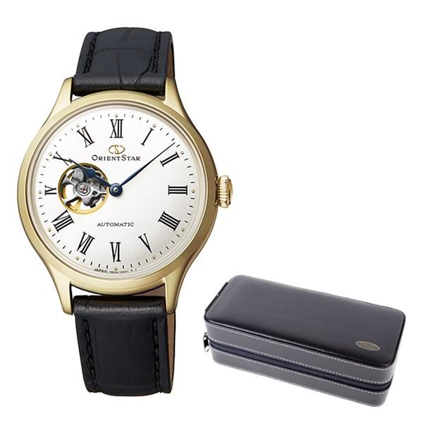 (ケースセット)(国内正規品)(オリエントスター)ORIENTSTAR 腕時計 RK-ND0004S クラシック レディース クラシックセミスケルトン(牛革バンド 自動巻き(手巻付) アナログ)(快適家電デジタルライフ)