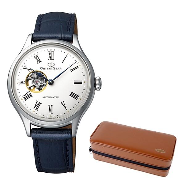 (ケースセット)(国内正規品)(オリエントスター)ORIENTSTAR 腕時計 RK-ND0005S クラシック レディース クラシックセミスケルトン(牛革バンド 自動巻き(手巻付) アナログ)(快適家電デジタルライフ)