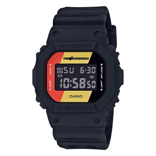 (国内正規品)(カシオ)CASIO 腕時計 DW-5600HDR-1JR (ジーショック)G-SHOCK メンズ THE HUNDREDS コラボ 限定モデル(樹脂バンド クオーツ デジタル)(快適家電デジタルライフ)