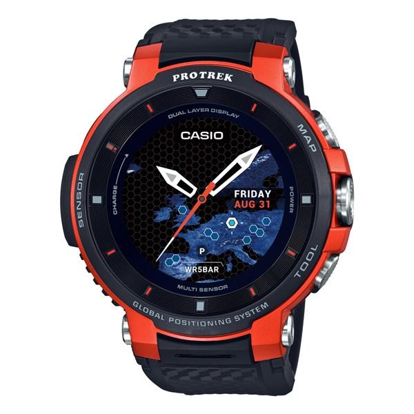 (1月新商品)(1月18日発売予定)(国内正規品)(カシオ)CASIO 腕時計 WSD-F30-RG PROTREK(プロトレック) スマートアウトドアウォッチ メンズ オレンジ(GPS タッチパネルディスプレイ)(快適家電デジタルライフ)