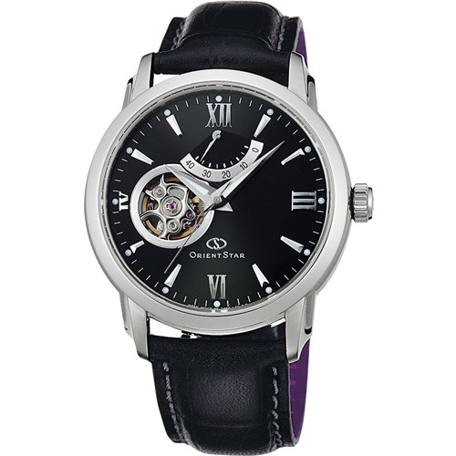 【国内正規品】 ORIENT(オリエント) 【腕時計】 WZ0221DA Orient Star[オリエントスター] 【セミスケルトン 機械式 自動巻き (手巻き付き) ブラック 多針アナログ表示 革バンド】【快適家電デジタルライフ】
