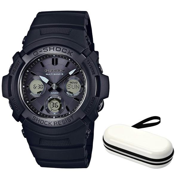 (セット)(国内正規品)(カシオ)CASIO 腕時計 AWG-M100SBB-1AJF (ジーショック)G-SHOCK メンズ AWGM100SBB1AJF&腕時計ケース1本用 ホワイト(タフソーラー 樹脂バンド アナデジ)(快適家電デジタルライフ)