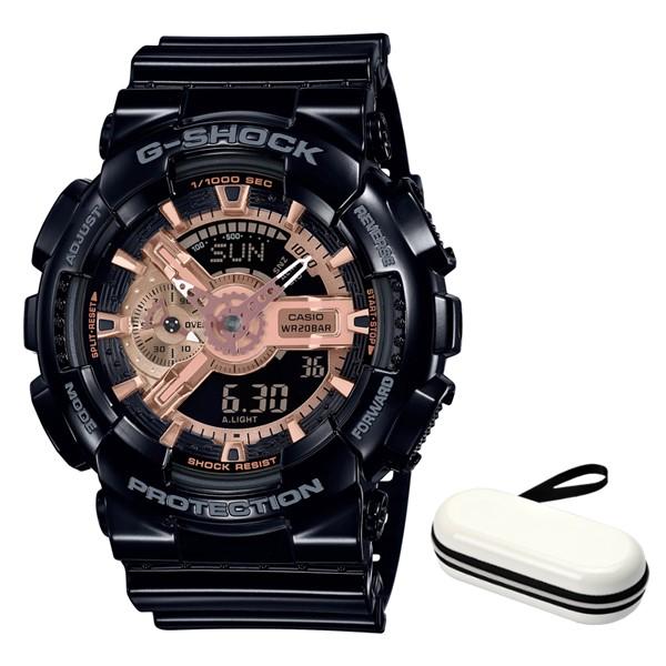 (時計ケースセット)(国内正規品)(カシオ)CASIO 腕時計 GA-110MMC-1AJF (ジーショック)G-SHOCK メンズ BLACK & ROSE GOLD(樹脂バンド クオーツ アナデジ)(快適家電デジタルライフ)