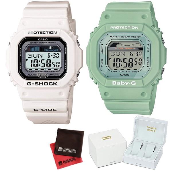 (ペア箱入り・クロスセット)(国内正規品)(カシオ)CASIO (ジーライド)G-LIDE GLX-5600-7JF メンズ・BLX-560-3JF レディース G-SHOCK&BABY-G Retro surf colors(樹脂バンド クオーツ アナログ ペアウォッチ)(快適家電デジタルライフ)