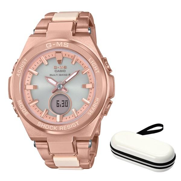 (時計ケースセット)(国内正規品)(カシオ)CASIO 腕時計 MSG-W200CG-4AJF (ベビーG)BABY-G レディース G-MS(コンポジットバンド 電波ソーラー アナデジ)(快適家電デジタルライフ)
