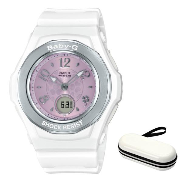 (時計ケースセット)(国内正規品)(カシオ)CASIO 腕時計 BGA-1050CD-7BJF (ベビーG)BABY-G レディース クローバー・ダイアル(樹脂バンド 電波ソーラー アナデジ)(快適家電デジタルライフ)