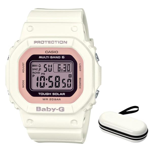 (時計ケースセット)(国内正規品)(カシオ)CASIO 腕時計 BGD-5000-7DJF (ベビーG)BABY-G レディース(樹脂バンド 電波ソーラー デジタル)(快適家電デジタルライフ)