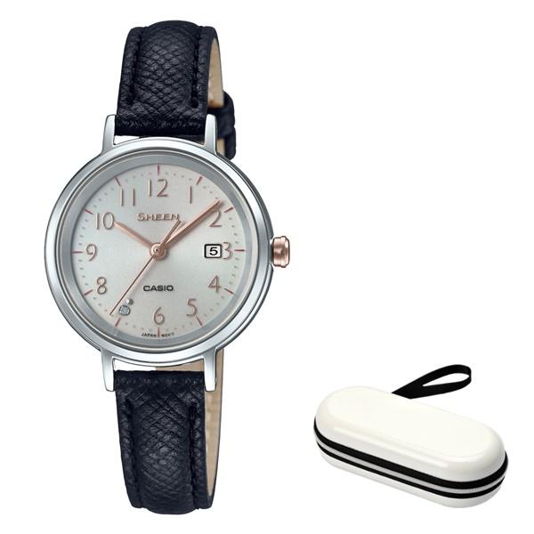 (時計ケースセット)(国内正規品)(カシオ)CASIO 腕時計 SHS-D100L-4AJF SHEEN(シーン) レディース(牛革バンド ソーラー アナログ)(快適家電デジタルライフ)