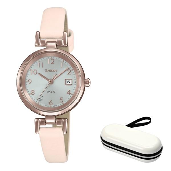 (時計ケースセット)(国内正規品)(カシオ)CASIO 腕時計 SHS-D200CGL-4AJF SHEEN(シーン) レディース(牛革バンド ソーラー アナログ)(快適家電デジタルライフ)