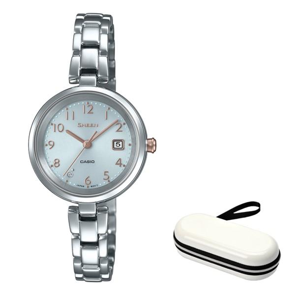 (時計ケースセット)(国内正規品)(カシオ)CASIO 腕時計 SHS-D200D-7AJF SHEEN(シーン) レディース(ステンレスバンド ソーラー アナログ)(快適家電デジタルライフ)