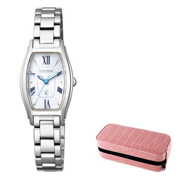 (時計ケースセット)(国内正規品)(シチズン)CITIZEN 腕時計 EW5540-52A (クロスシー)xC レディース(ステンレスバンド ソーラー アナログ)(快適家電デジタルライフ)