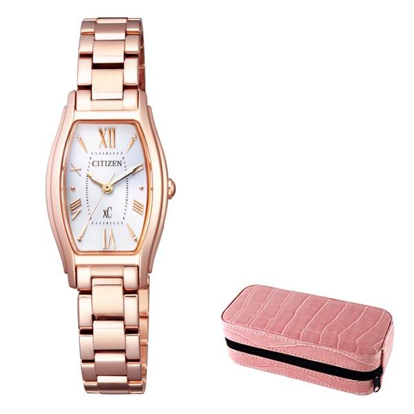 (時計ケースセット)(国内正規品)(シチズン)CITIZEN 腕時計 EW5543-54A (クロスシー)xC レディース(ステンレスバンド ソーラー アナログ)(快適家電デジタルライフ)