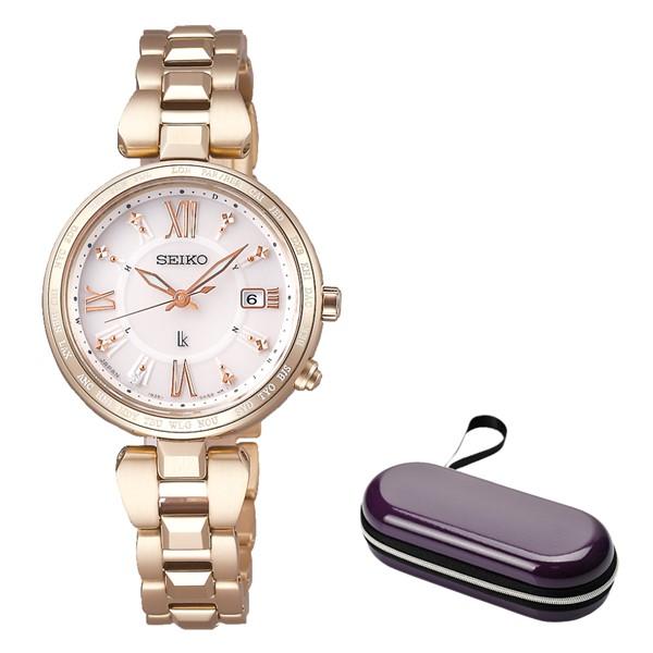 (時計ケースセット)(国内正規品)(セイコー)SEIKO 腕時計 SSQV058 (ルキア)LUKIA レディース レディダイヤ 綾瀬はるか(チタンバンド 電波ソーラー アナログ)(快適家電デジタルライフ)