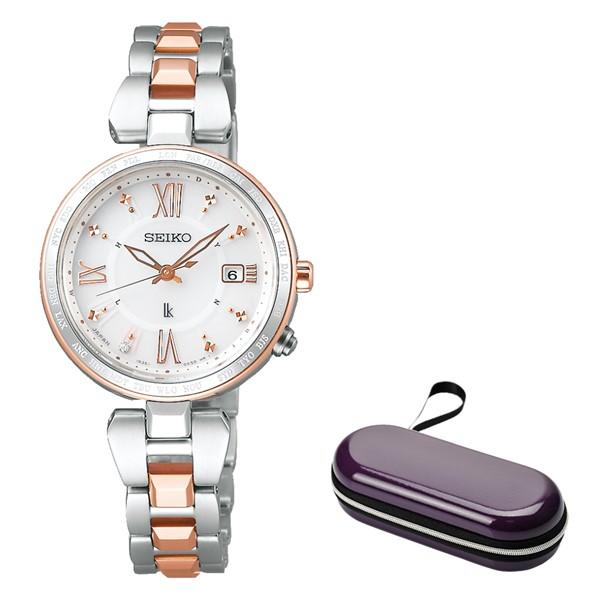 (時計ケースセット)(国内正規品)(セイコー)SEIKO 腕時計 SSQV056 (ルキア)LUKIA レディース レディダイヤ(チタンバンド 電波ソーラー アナログ)(快適家電デジタルライフ)