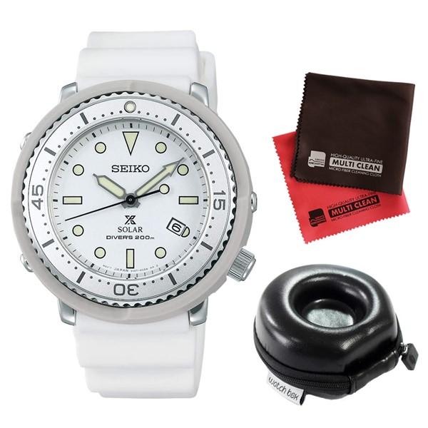 (3月新商品)(時計ケース丸型・クロスセット)(国内正規品)(セイコー)SEIKO 腕時計 STBR021 (プロスペックス)PROSPEX メンズ LOWERCASE プロデュース(シリコンバンド ソーラー アナログ)(快適家電デジタルライフ)