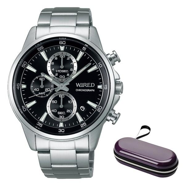 (時計ケースセット)(国内正規品)(セイコー)SEIKO 腕時計 AGAT424 (ワイアード)WIRED メンズ(ステンレスバンド クオーツ 多針アナログ)(快適家電デジタルライフ)