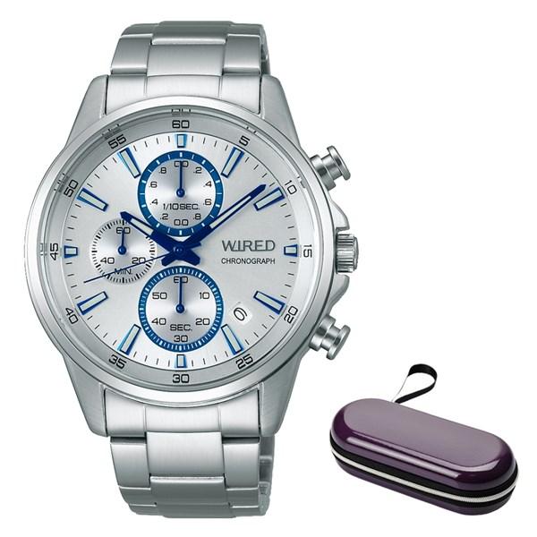 (時計ケースセット)(国内正規品)(セイコー)SEIKO 腕時計 AGAT425 (ワイアード)WIRED メンズ(ステンレスバンド クオーツ 多針アナログ)(快適家電デジタルライフ)