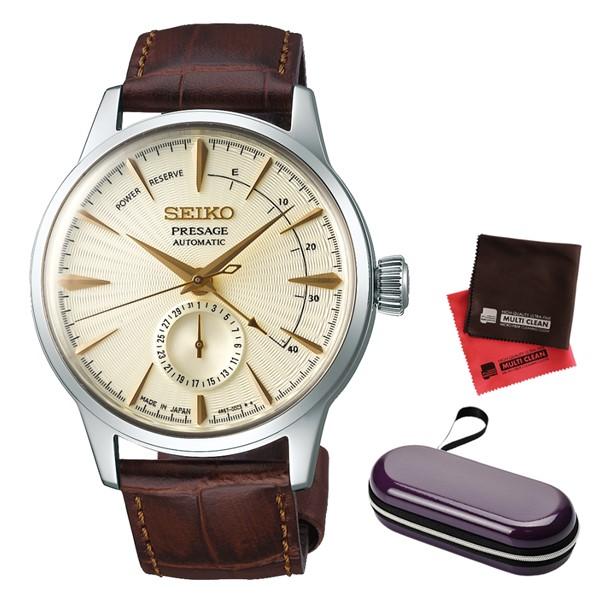 (時計ケース・クロスセット)(国内正規品)(セイコー)SEIKO 腕時計 SARY107 (プレザージュ)PRESAGE メンズ カクテルシリーズ(牛革バンド 自動巻き(手巻付) 多針アナログ)(快適家電デジタルライフ)