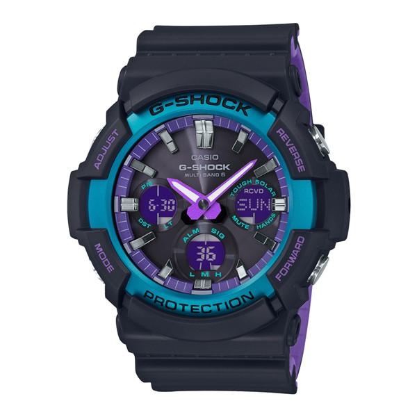 (4月新商品)(4月6日発売予定)(国内正規品)(カシオ)CASIO 腕時計 GAW-100BL-1AJF (ジーショック)G-SHOCK メンズ BLACK & 90s Color(樹脂バンド 電波ソーラー アナデジ)(快適家電デジタルライフ)