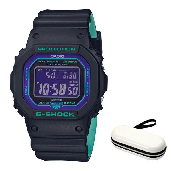 (4月新商品)(4月6日発売予定)(時計ケースセット)(国内正規品)(カシオ)CASIO 腕時計 GW-B5600BL-1JF (ジーショック)G-SHOCK メンズ BLACK & 90s Color(樹脂バンド 電波ソーラー デジタル)(快適家電デジタルライフ)
