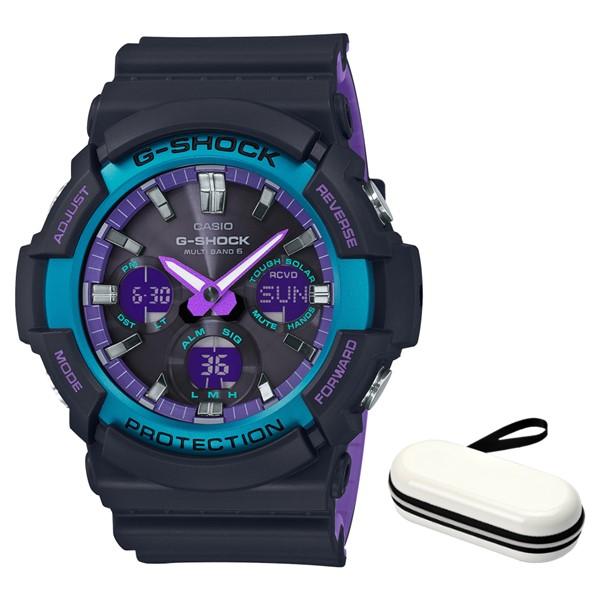 (4月新商品)(4月6日発売予定)(時計ケースセット)(国内正規品)(カシオ)CASIO 腕時計 GAW-100BL-1AJF (ジーショック)G-SHOCK メンズ BLACK & 90s Color(樹脂バンド 電波ソーラー アナデジ)(快適家電デジタルライフ)