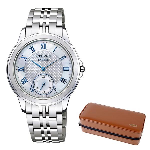 (時計ケースセット)(国内正規品)(シチズン)CITIZEN 腕時計 AQ5000-56D (エクシード)EXCEED メンズ エコドライブ 薄型(チタンバンド ソーラー アナログ)(快適家電デジタルライフ)