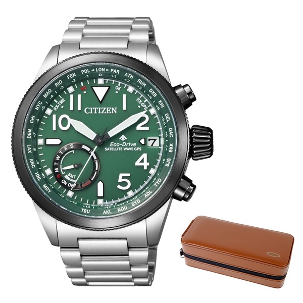 (時計ケースセット)(国内正規品)(シチズン)CITIZEN 腕時計 CC3067-70W (プロマスター)PROMASTER メンズ LANDシリーズ(ステンレスバンド GPS電波ソーラー 多針アナログ)