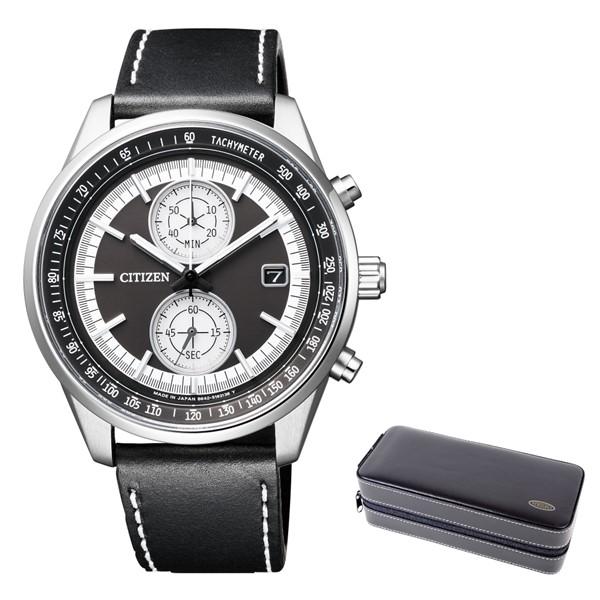 (3月新商品)(時計ケースセット)(国内正規品)(シチズン)CITIZEN 腕時計 CA7030-11E Cコレクション メンズ スマートスポーツ クロノグラフ(牛革バンド ソーラー 多針アナログ)(快適家電デジタルライフ)