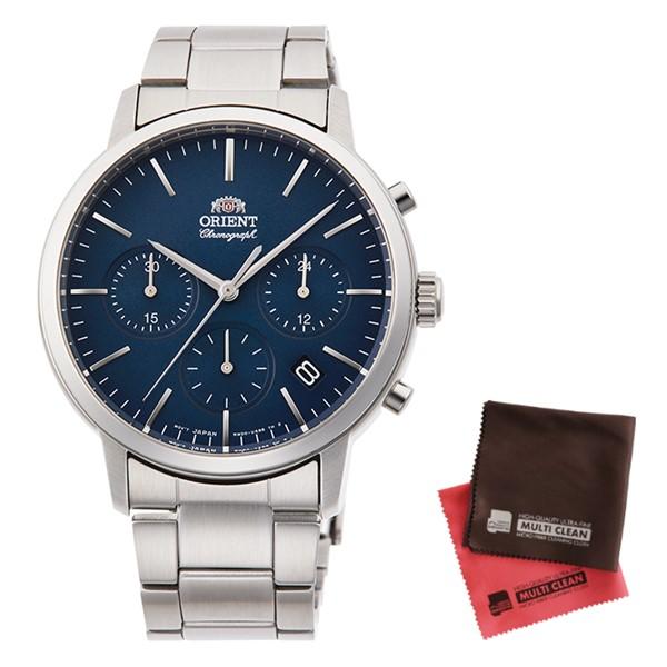 (クロスセット)(国内正規品)(オリエント)ORIENT 腕時計 RN-KV0301L (コンテンポラリー)CONTEMPORARY メンズ クロノグラフ(ステンレスバンド クオーツ 多針アナログ)(快適家電デジタルライフ)