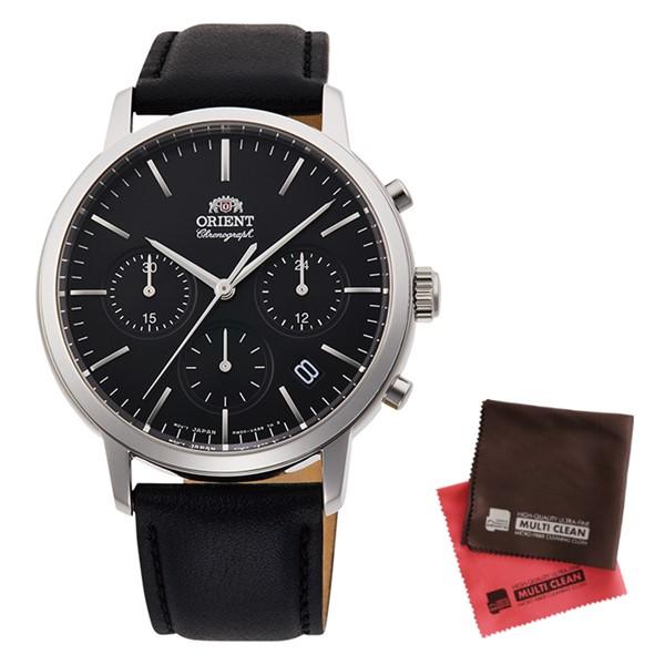 (クロスセット)(国内正規品)(オリエント)ORIENT 腕時計 RN-KV0303B (コンテンポラリー)CONTEMPORARY メンズ クロノグラフ(牛革バンド クオーツ 多針アナログ)(快適家電デジタルライフ)