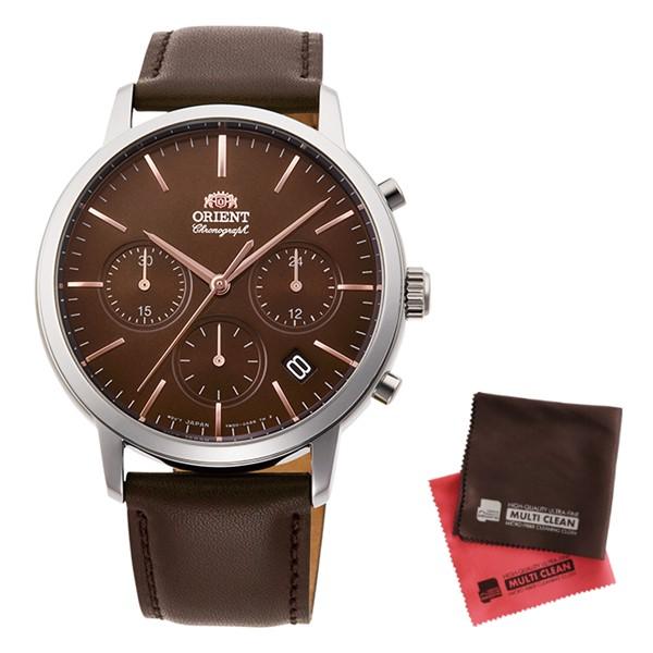 (クロスセット)(国内正規品)(オリエント)ORIENT 腕時計 RN-KV0304Y (コンテンポラリー)CONTEMPORARY メンズ クロノグラフ(牛革バンド クオーツ 多針アナログ)(快適家電デジタルライフ)