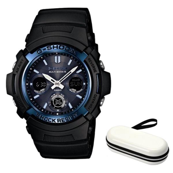 (時計ケースセット)(国内正規品)(カシオ)CASIO 腕時計 AWG-M100A-1AJF (ジーショック)G-SHOCK メンズ(樹脂バンド 電波ソーラー アナデジ)(快適家電デジタルライフ)